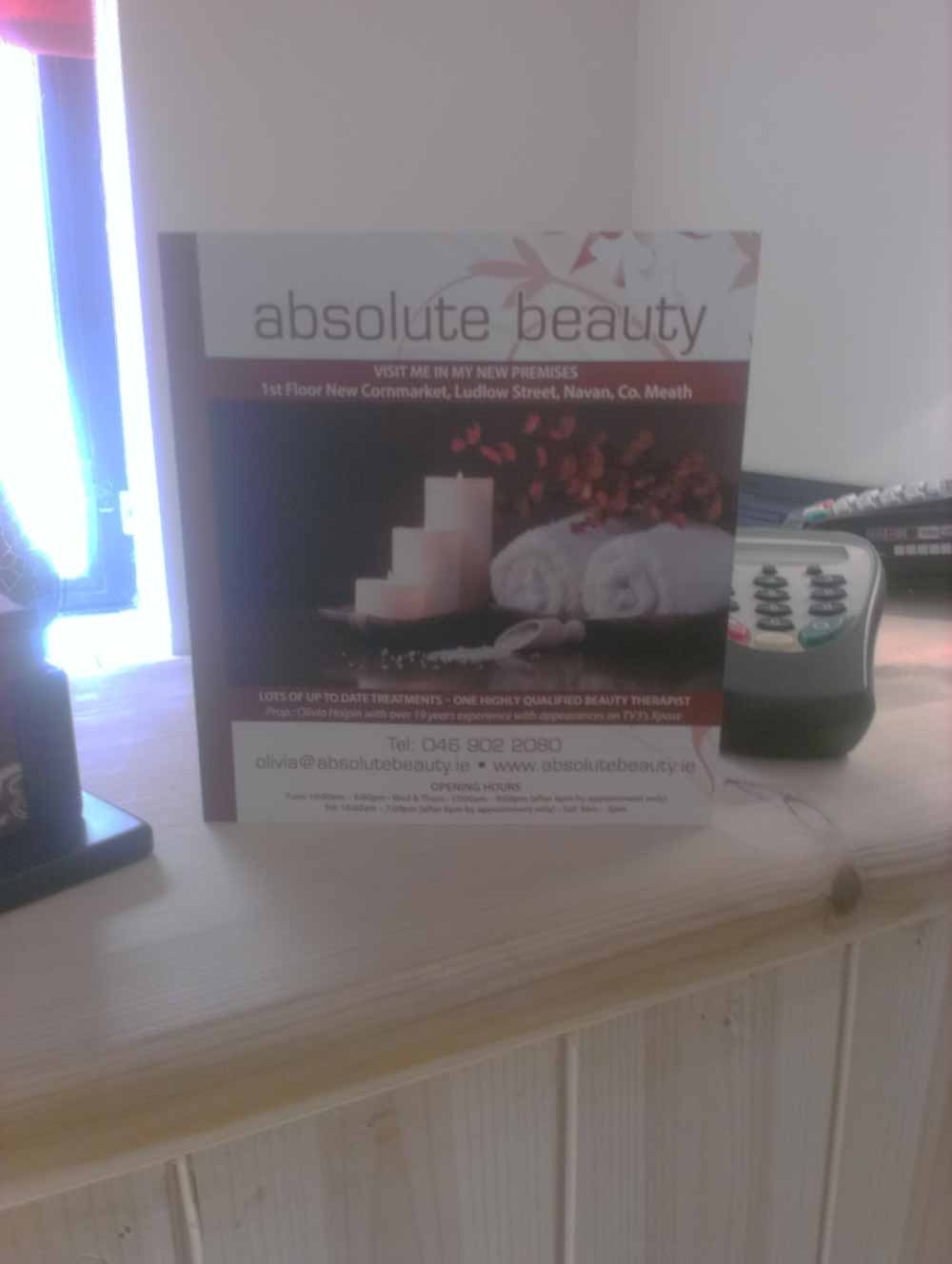 Absolute Beauty - Beauty Salon Navan, Co. MEath - Nails, Waxing, Beauty Therapy, Holistic Treatments