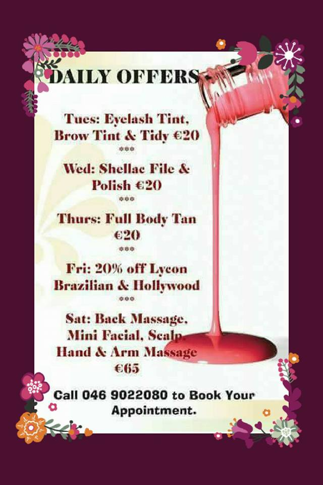 Special offers absolute beauty beauty salon navan co for Absolute beauty salon